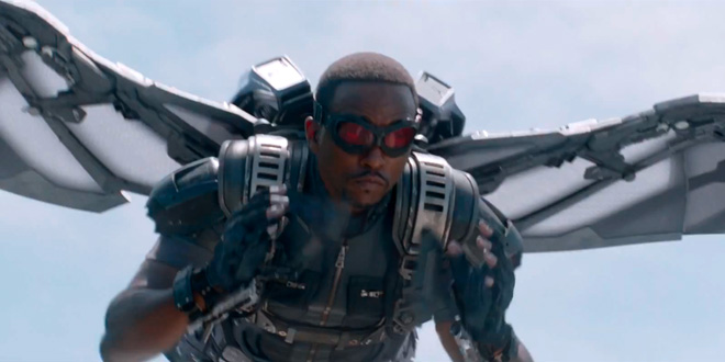 Falcon Flying Anthony Mackie