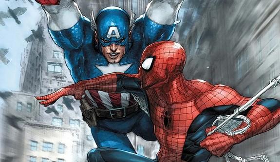 spiderman and cap