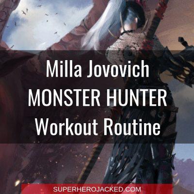 Milla Jovovich Monster Hunter Workout