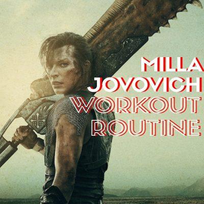 Milla Jovovich Workout