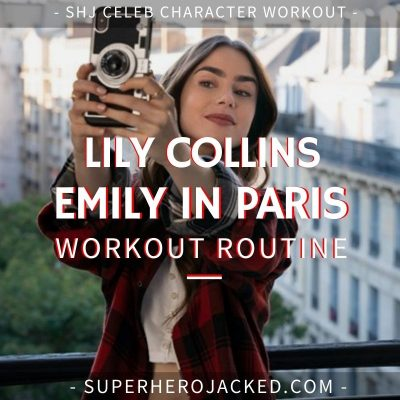 Lily Collins Emily in Paris Workout