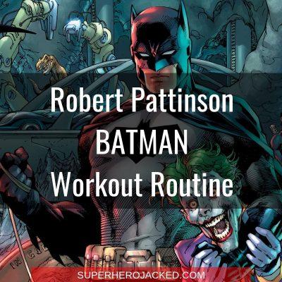 Robert Pattinson Batman Workout