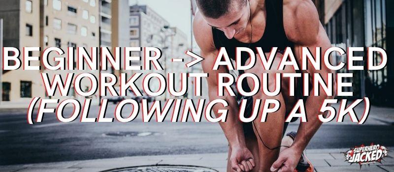 Post 5K Running Workout Schedule