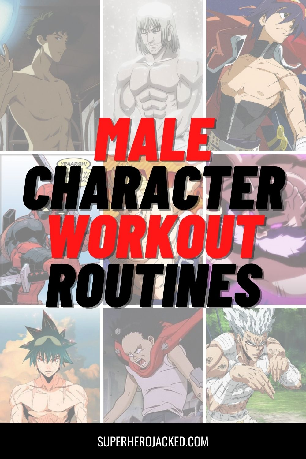 Male Character Workout Routines
