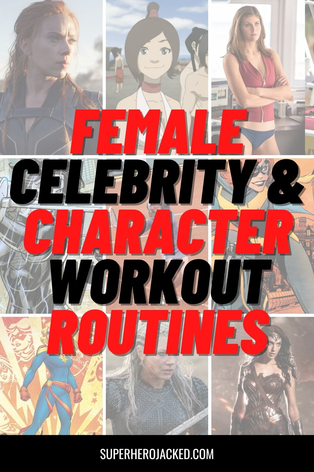 female celebrity & character workout routines