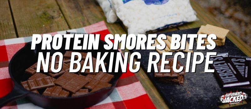 protein smores bites no baking recipe